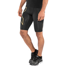 2XU MCS Run Compression Shorts Herre black/gold reflective
